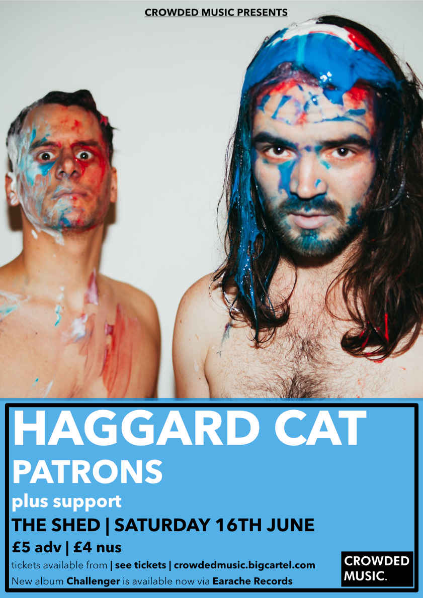 Haggard Cat Crowded Poster